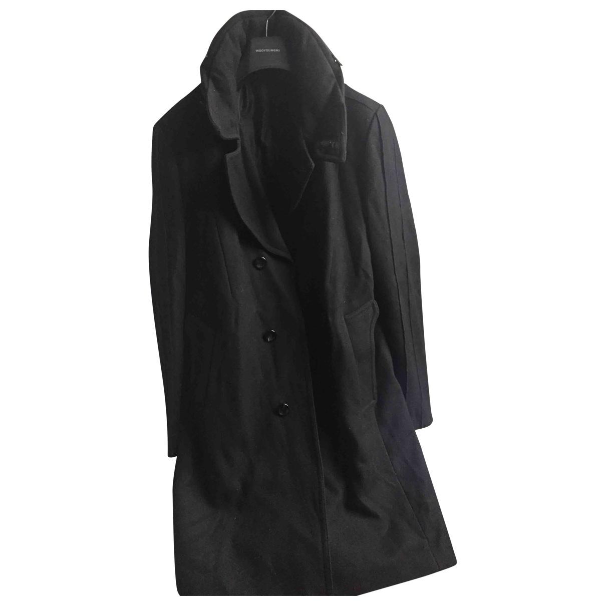 Wooyoungmi - Manteau   pour homme en cachemire - noir