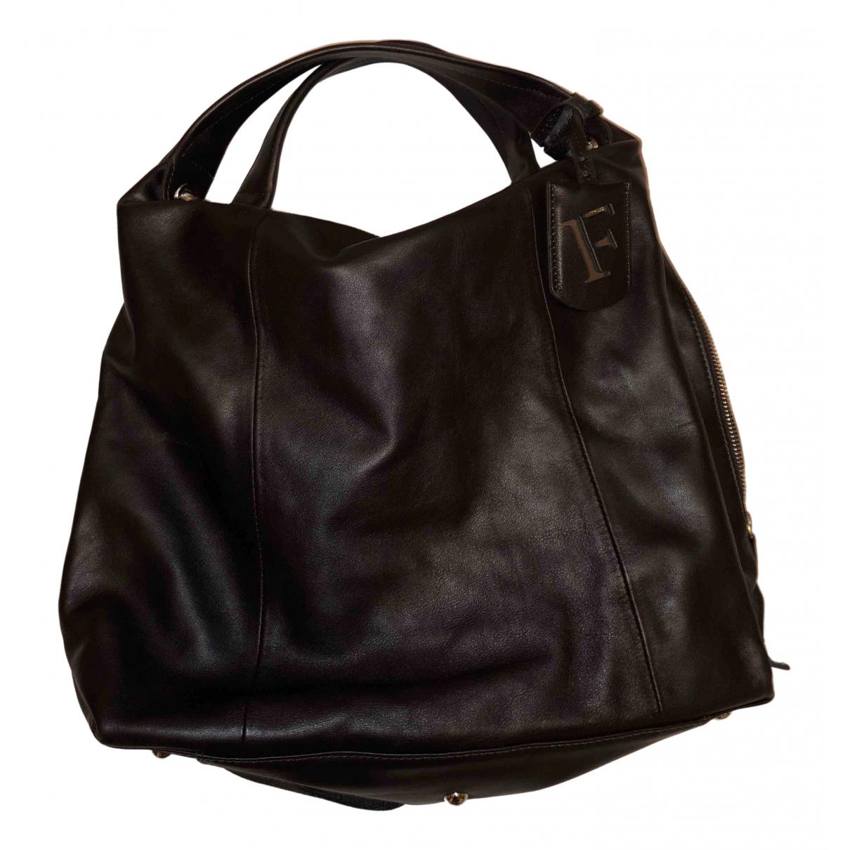 Furla N Brown Leather handbag for Women N