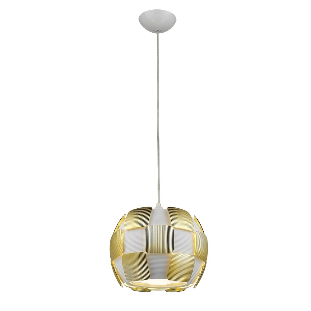 Access Lighting Layers 1-light 11-inch Pendant, Gold (Gold, White)