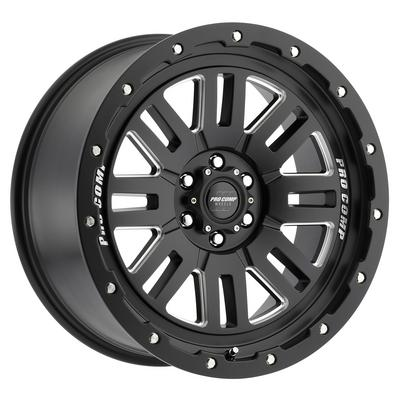 Pro Comp 61 Series Cognos, 20x9 Wheel with 8x6.5 Bolt Pattern - Satin Black Milled - 5161-298250