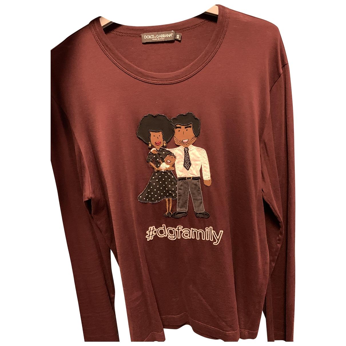 Dolce & Gabbana \N T-Shirts in  Bordeauxrot Baumwolle