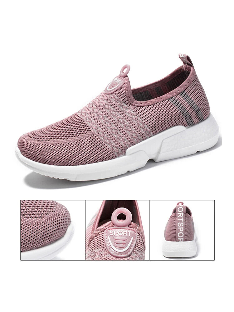 Women Breathable Mesh Casual Slip On Walking Shoes