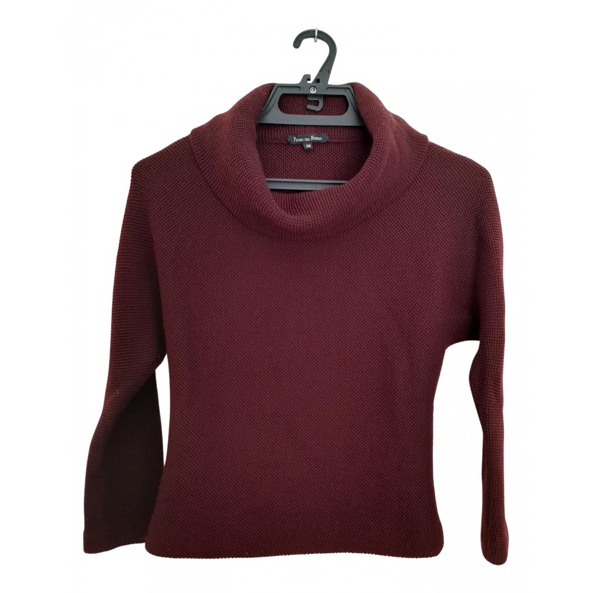 Pedro Del Hierro \N Pullover in  Bordeauxrot Wolle