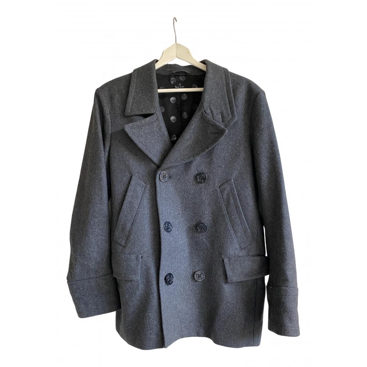 Paul Smith - Manteau   pour homme en laine - gris