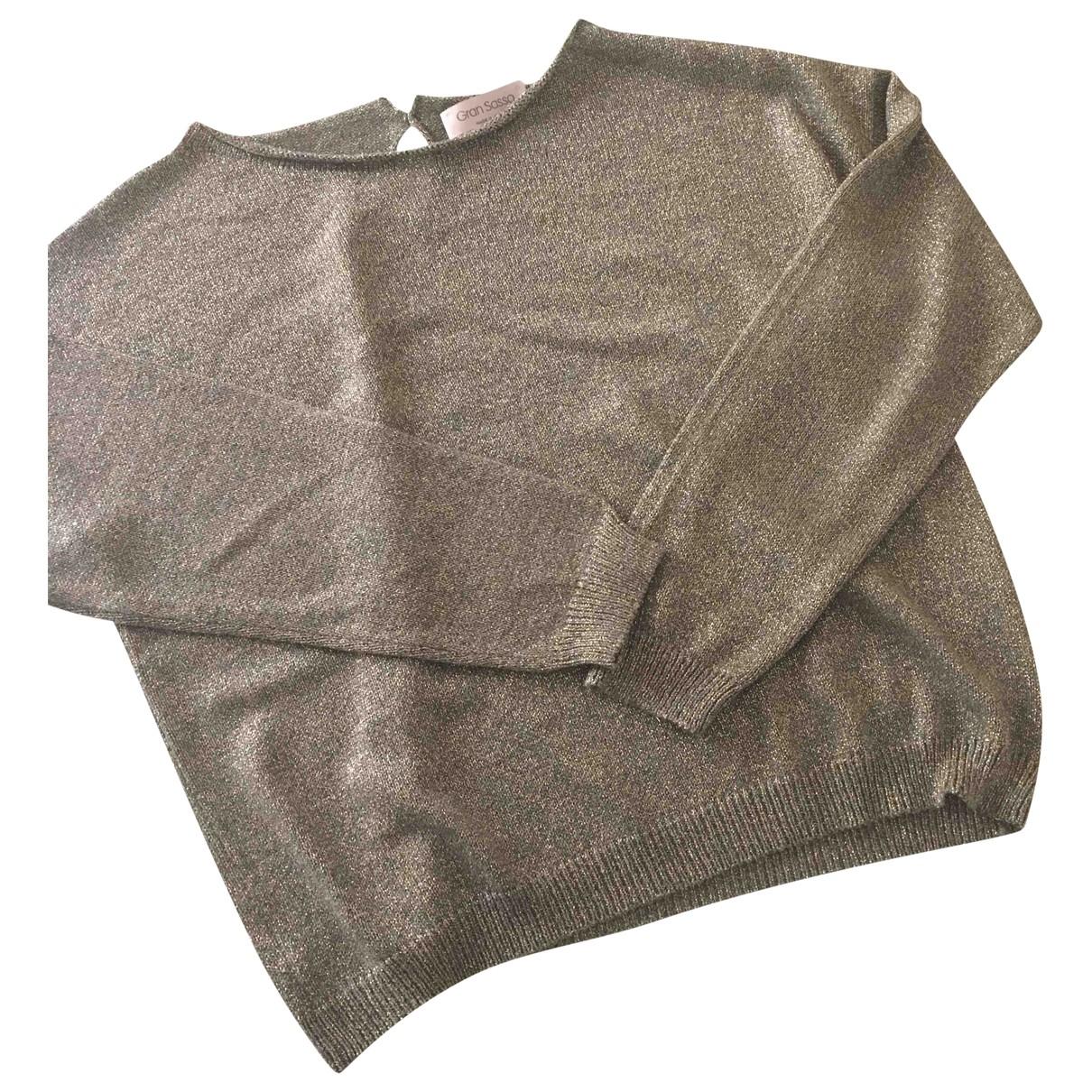 Non Signe / Unsigned \N Pullover in  Metallic Viskose