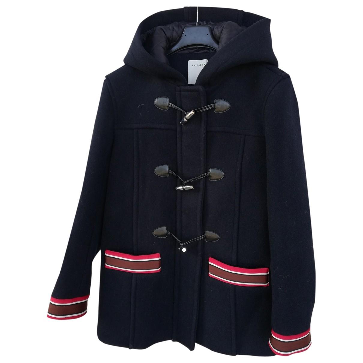 Sandro \N Blue Wool coat for Women 38 FR