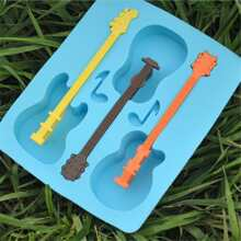 1pc 3 Grid Guitar  Ice Mold