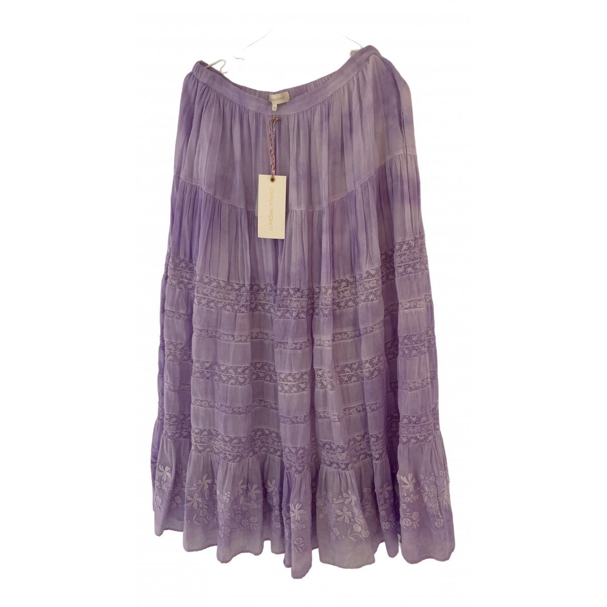 Love Shack Fancy - Jupe   pour femme en coton - violet