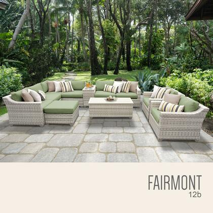FAIRMONT-12b-CILANTRO Fairmont 12 Piece Outdoor Wicker Patio Furniture Set 12b with 2 Covers: Beige and