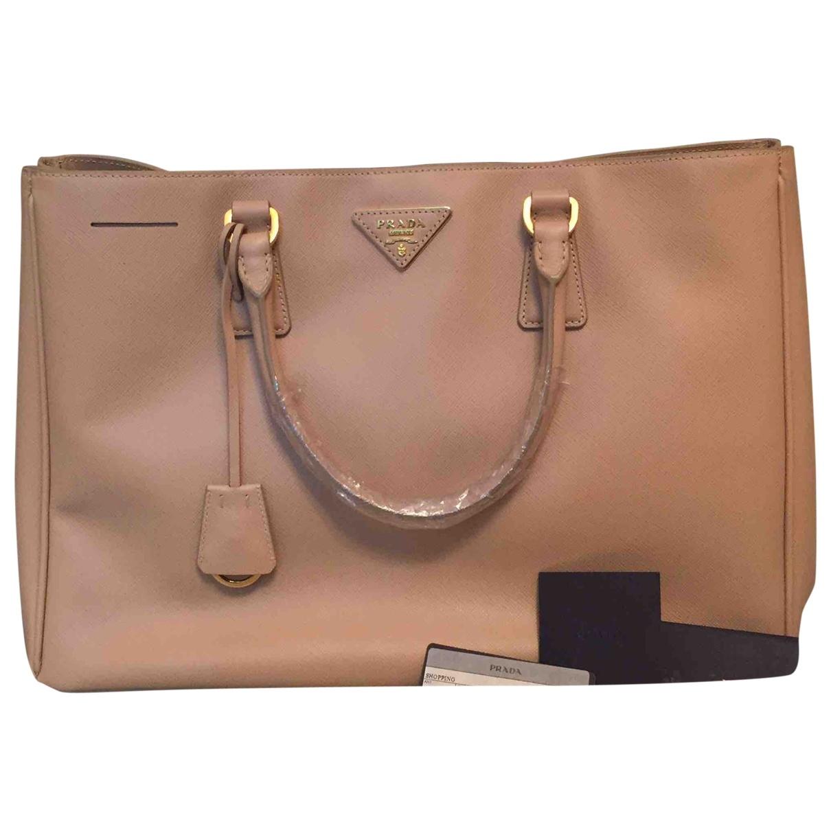 Prada saffiano  Camel Leather handbag for Women \N