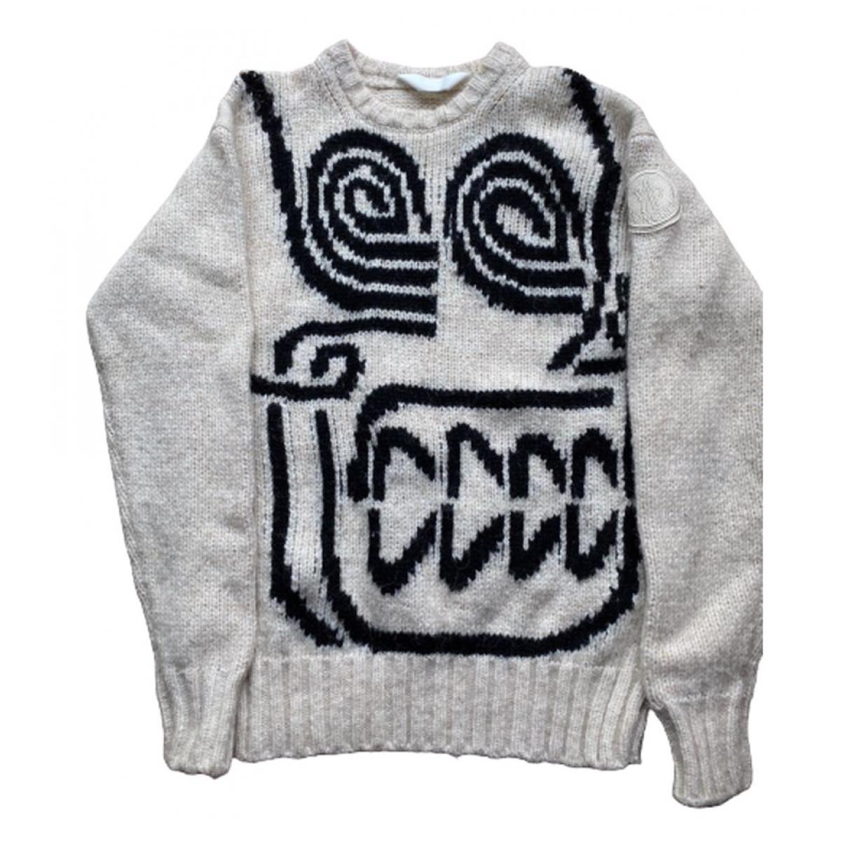 Moncler Genius Moncler n°2 1952 + Valextra Pullover.Westen.Sweatshirts  in  Weiss Wolle