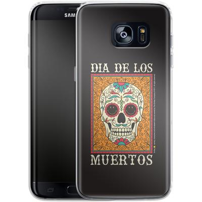 Samsung Galaxy S7 Edge Silikon Handyhuelle - Dia De Los Muertos von Smiley®