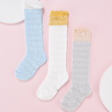 3 pares calcetines de niñitas con patron de cheuron