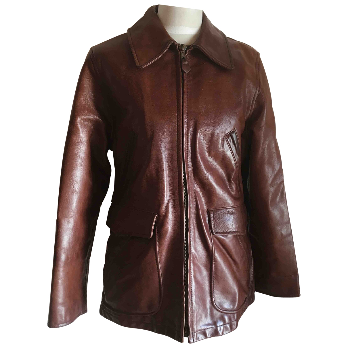 Max & Co \N Brown Leather jacket for Women 42 IT