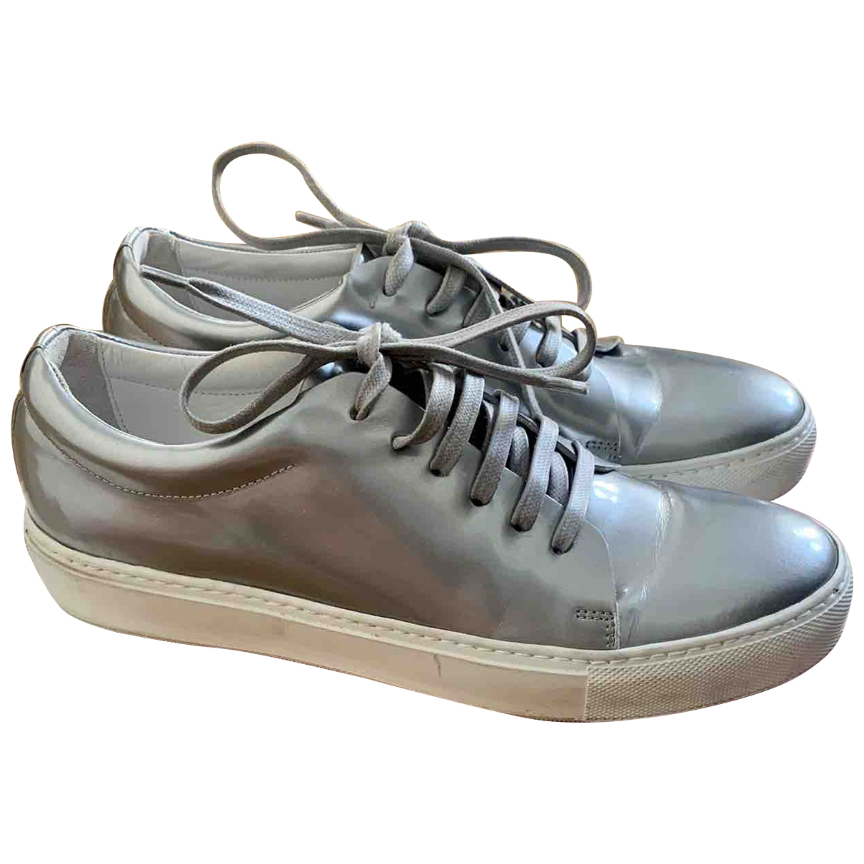 Acne Studios \N Silver Leather Trainers for Women 39 EU