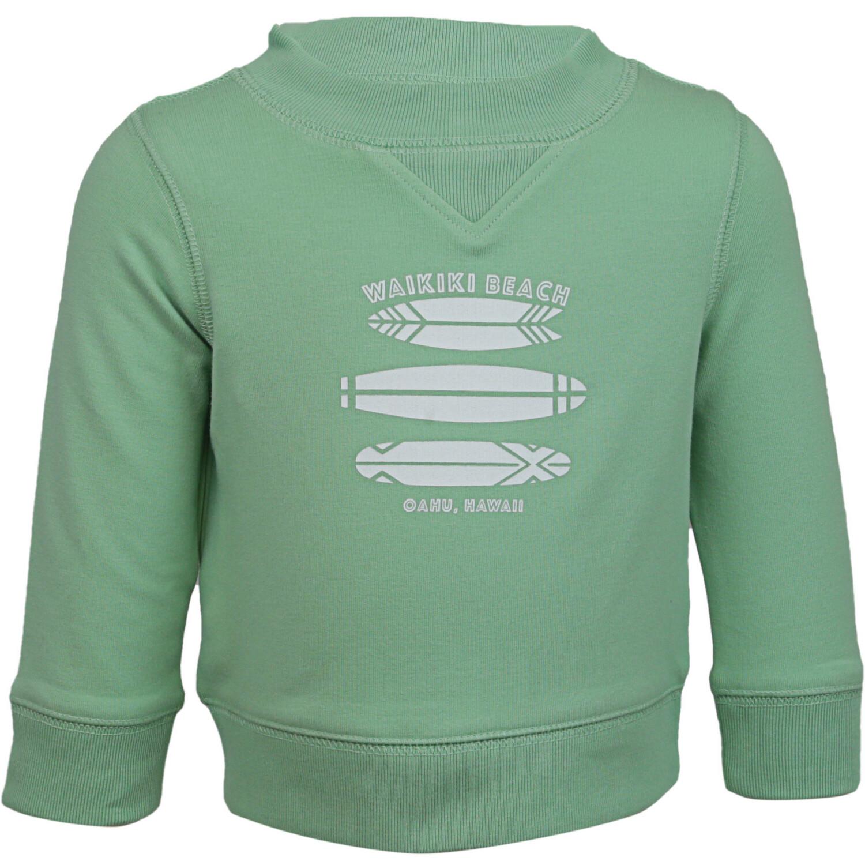 Janie And Jack Mint Waikiki Beach Sweatshirt Active - 6-12 Months