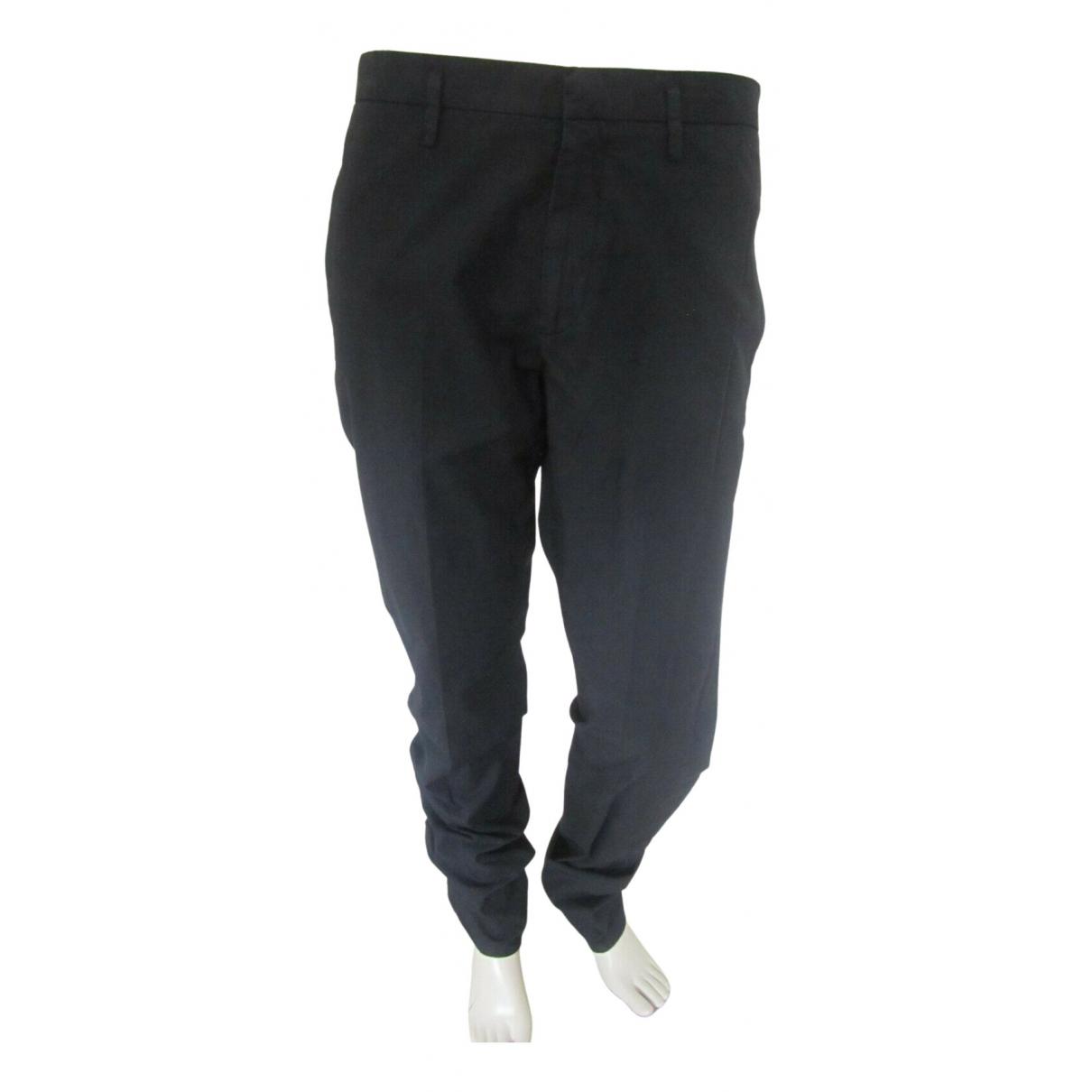 Pantalones en Algodon Marino Jil Sander