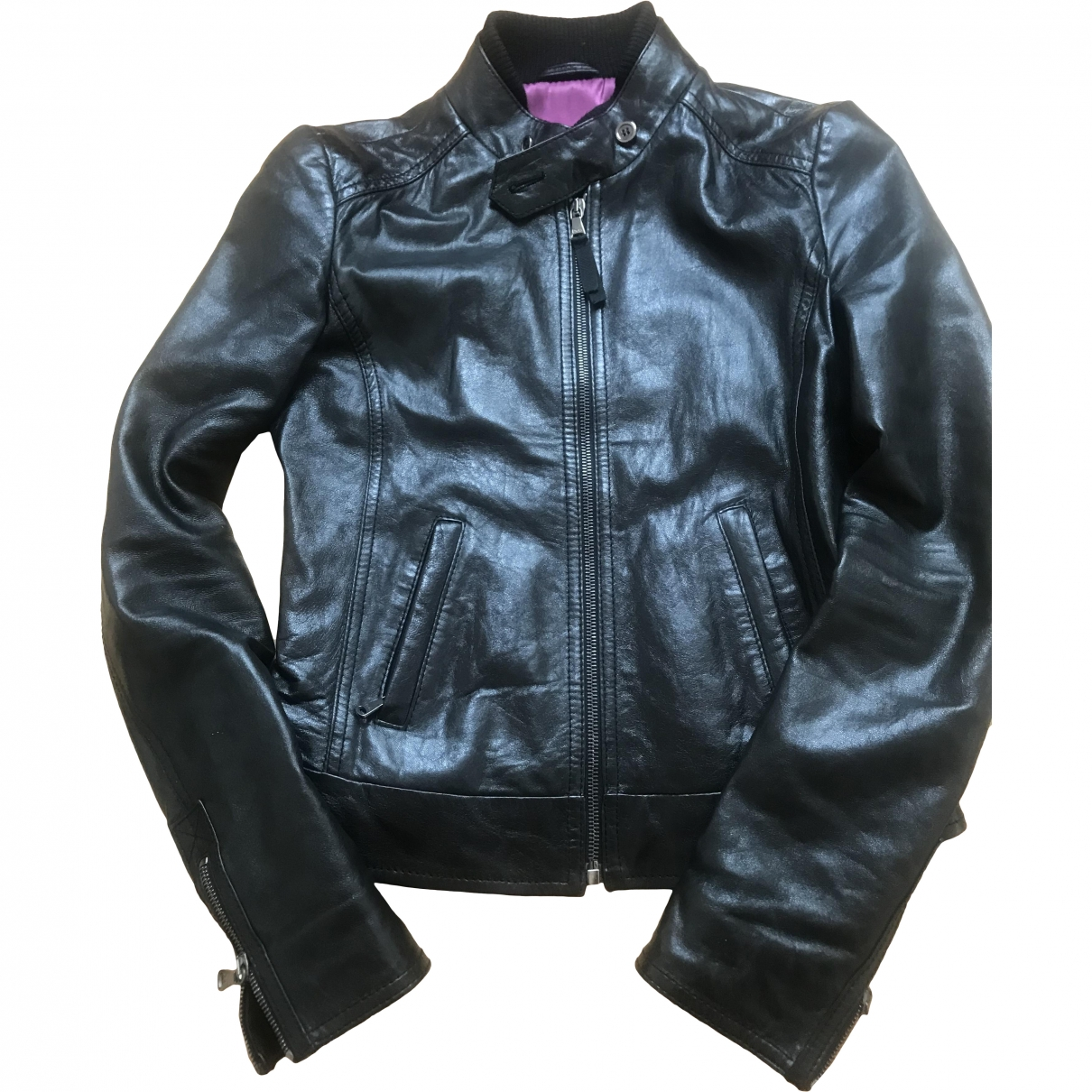 D&g \N Black Leather jacket for Women 40 IT