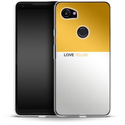 Google Pixel 2 XL Silikon Handyhuelle - LoveYellow von caseable Designs