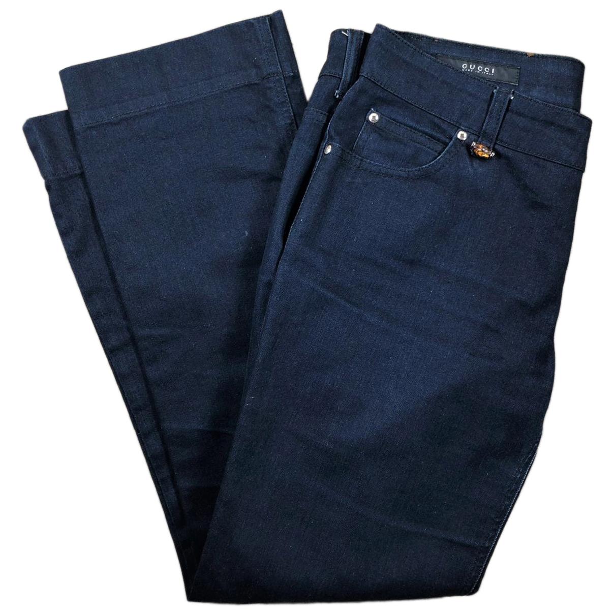 Gucci N Blue Cotton Jeans for Women 38 FR