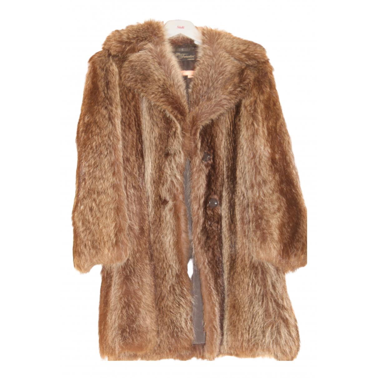 - Manteau   pour femme en castor - beige