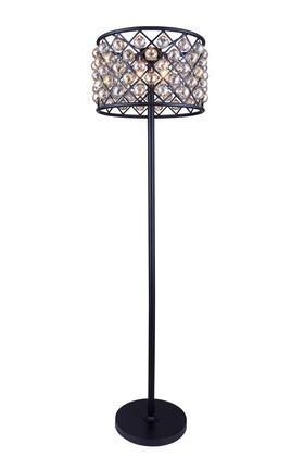 1206FL20MB-GT/RC 1206 Madison Collection Floor Lamp D: 20 H: 72 Lt: 4 Mocha Brown Finish (Royal Cut Golden Teak