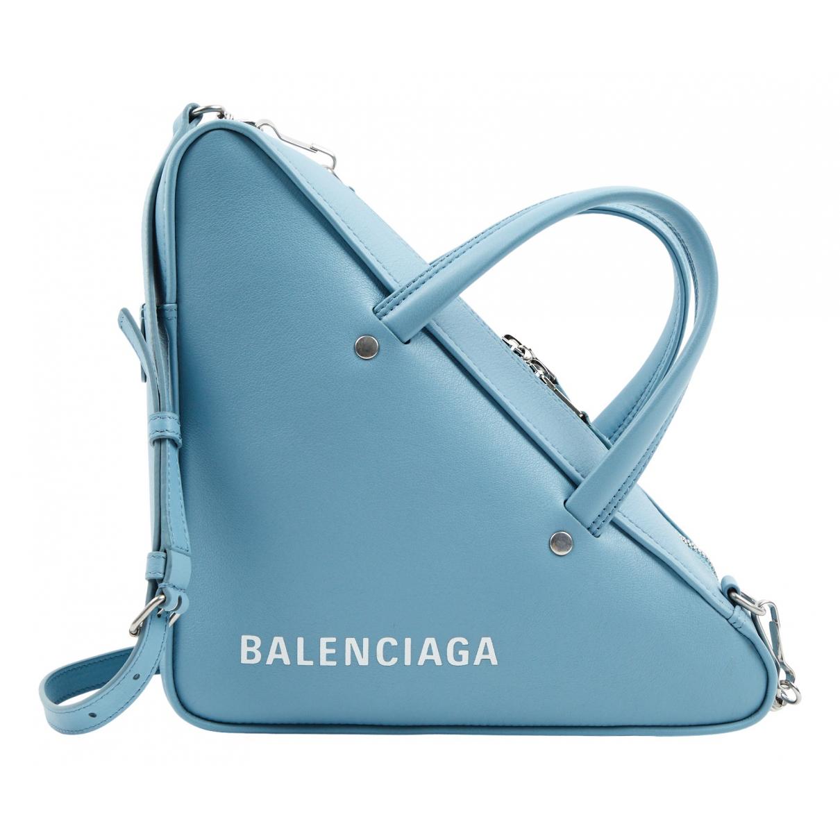 Balenciaga Triangle Blue Leather handbag for Women N