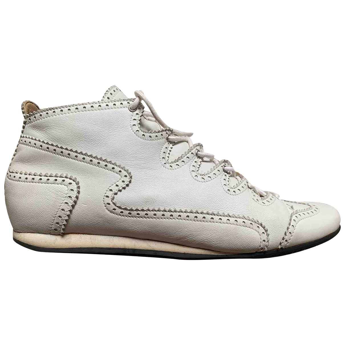 Hermes \N Sneakers in  Weiss Leder