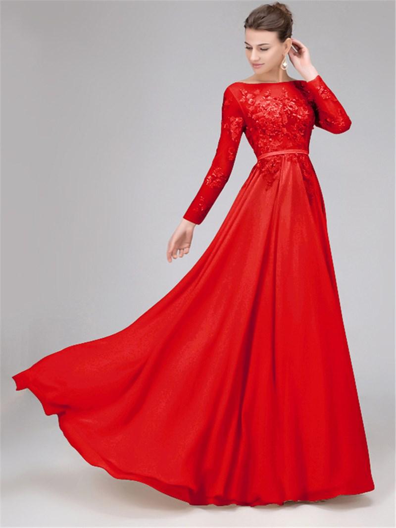 Ericdress Sequins Long Sleeves Backless Evening Dress