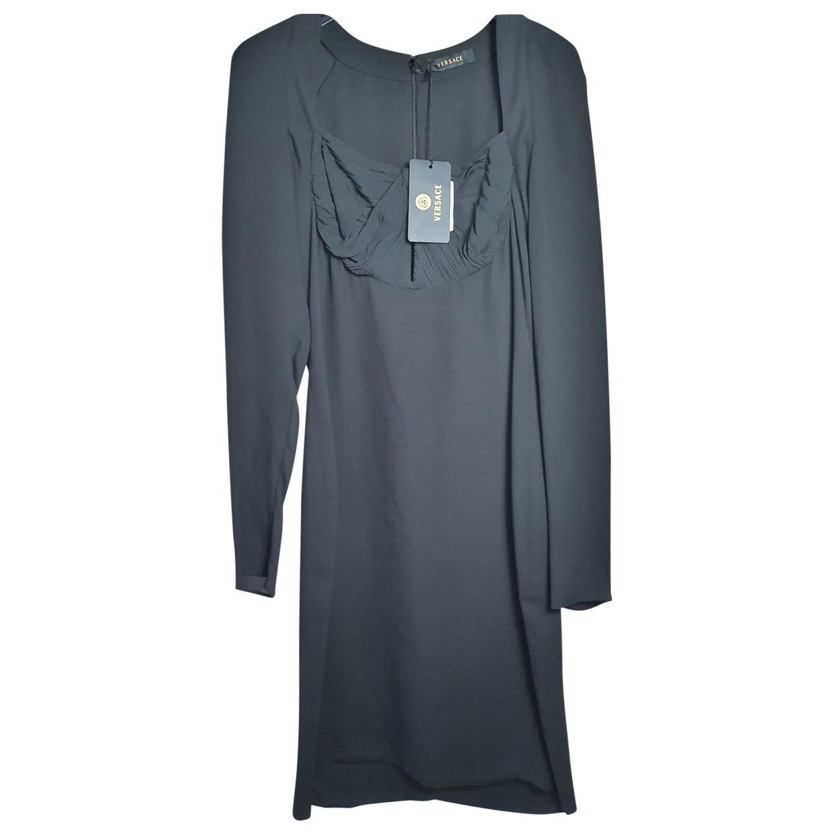 Versace \N Kleid in  Schwarz Seide