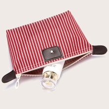 Striped Pattern Cosmetic Storage Bag