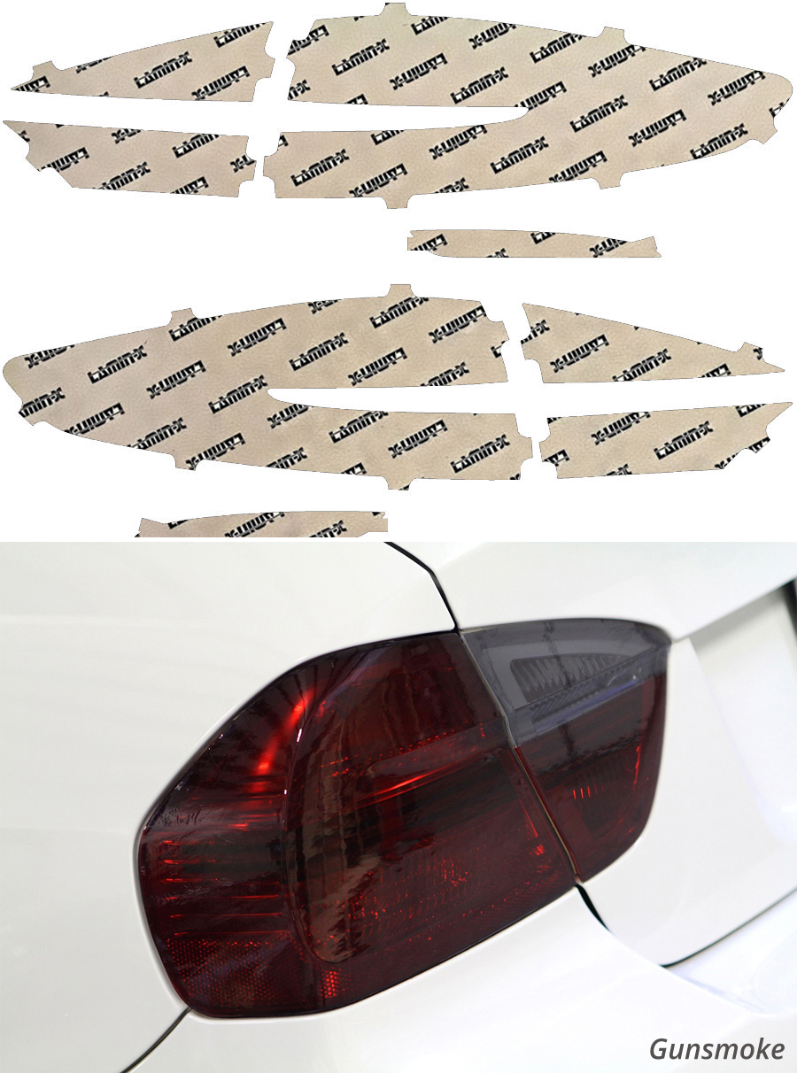 Ford Fusion 17-19 Gunsmoke Tail Light Covers Lamin-X F257G