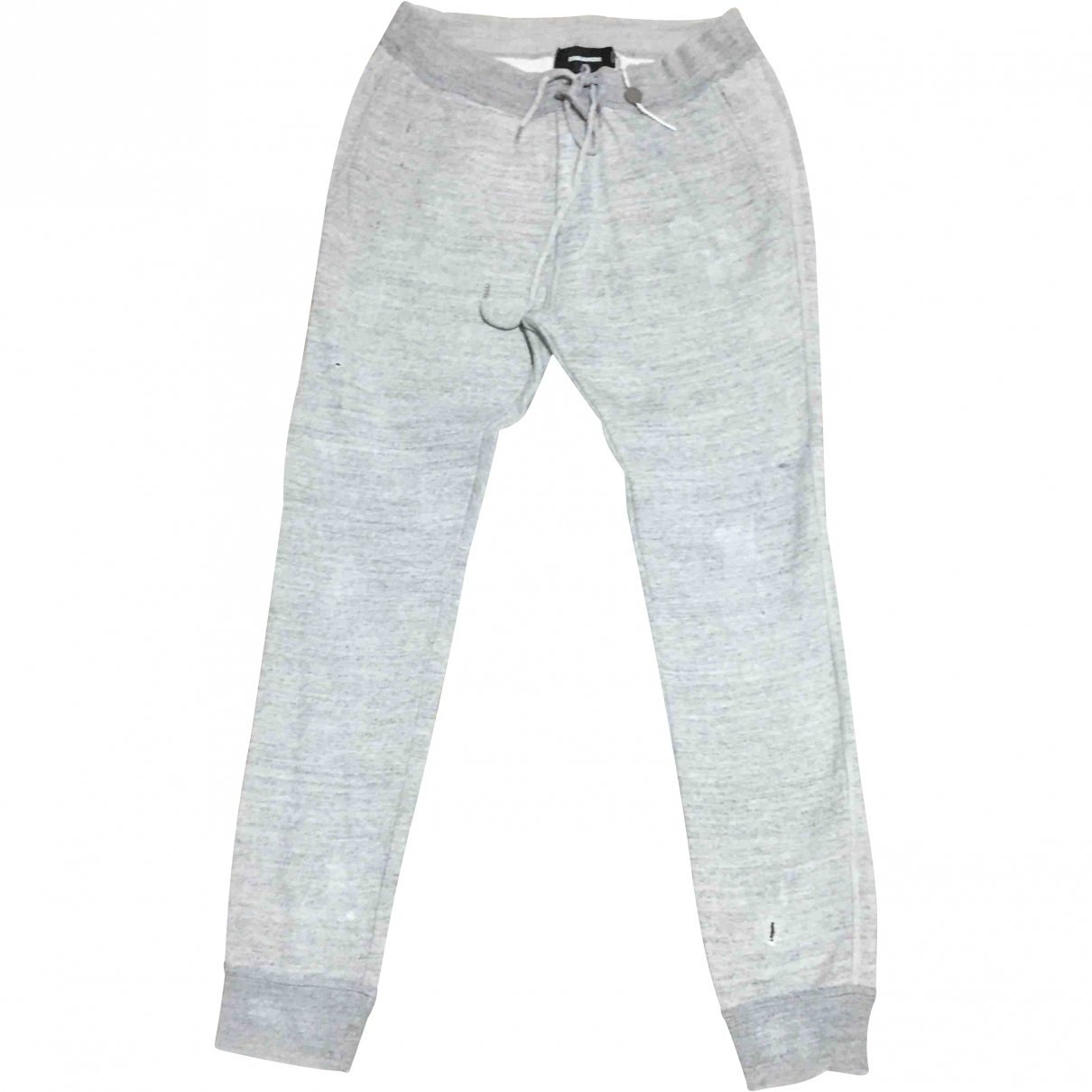 Dsquared2 \N Grey Cotton Trousers for Men M International
