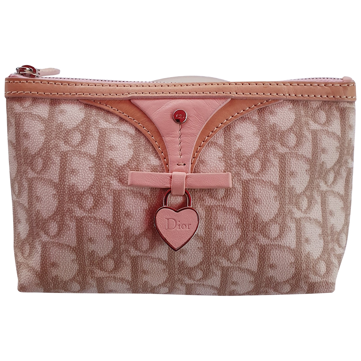 Dior \N Beige Cloth Purses, wallet & cases for Women \N