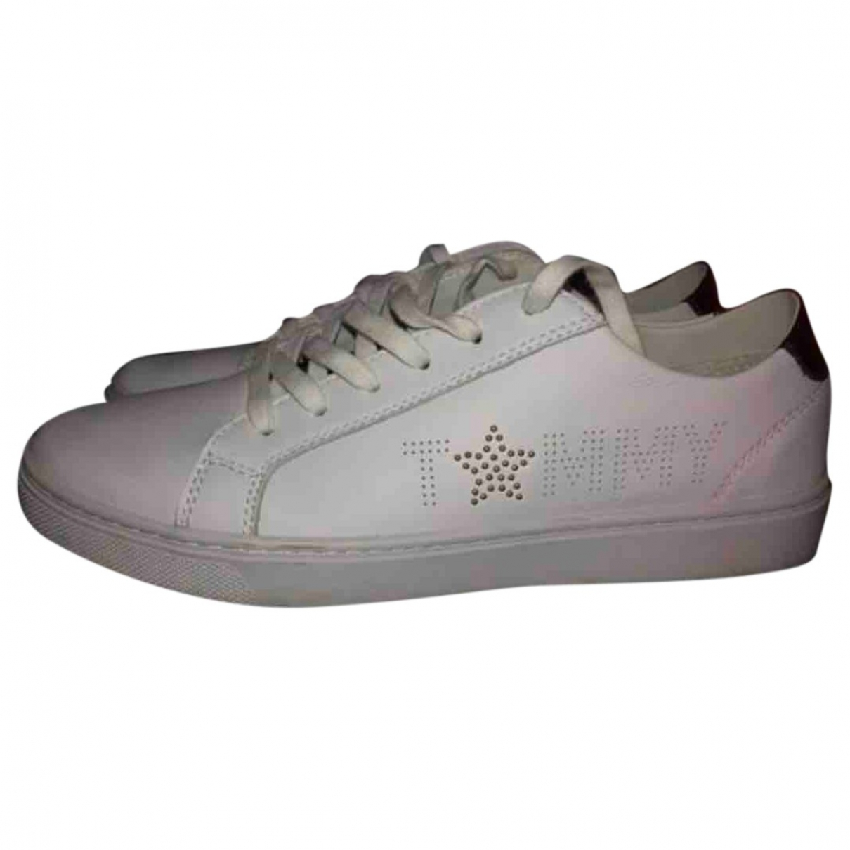 Tommy Hilfiger \N White Leather Trainers for Women 40 EU