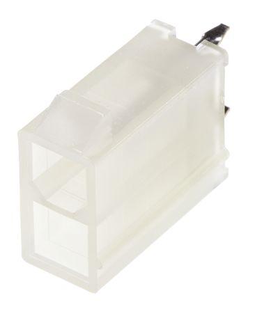 Molex , Mini-Fit Jr, 5566, 2 Way, 2 Row, Straight PCB Header (5)