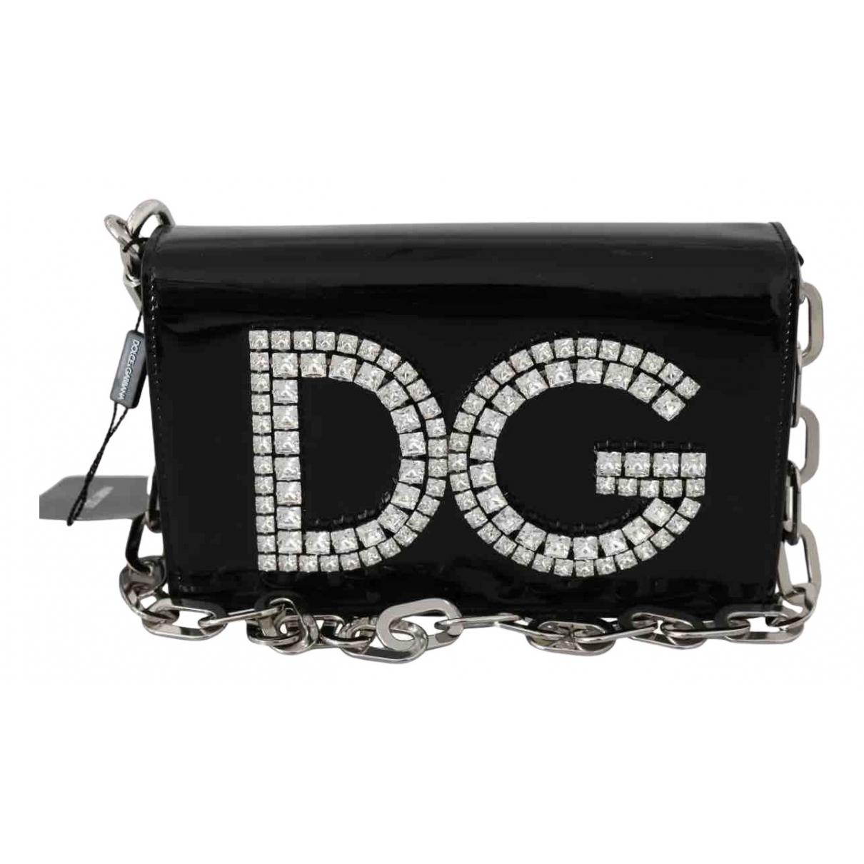 Dolce & Gabbana DG Girls Black Patent leather handbag for Women N