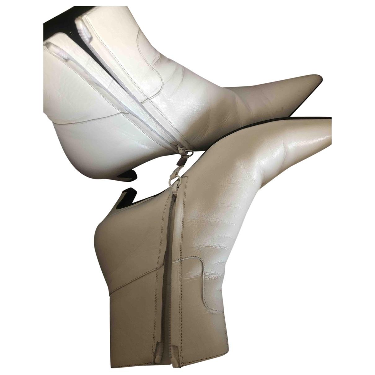 Balenciaga - Boots   pour femme en cuir - blanc
