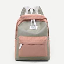 Zwei Ton Rucksack mit Taschen vorn