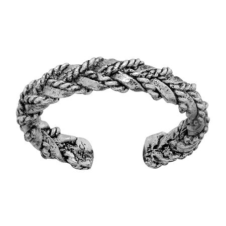 Itsy Bitsy Braided Weave Look Sterling Silver Toe Ring, One Size , No Color Family