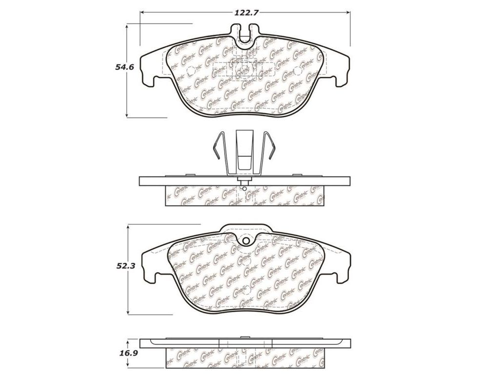 StopTech 105.1341 PosiQuiet Ceramic Pads Mercedes-Benz Rear