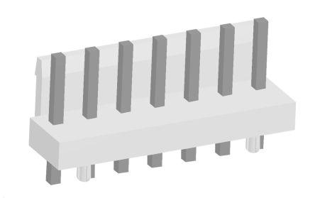 TE Connectivity , Economy Power, 7 Way, 1 Row, Straight PCB Header (10)