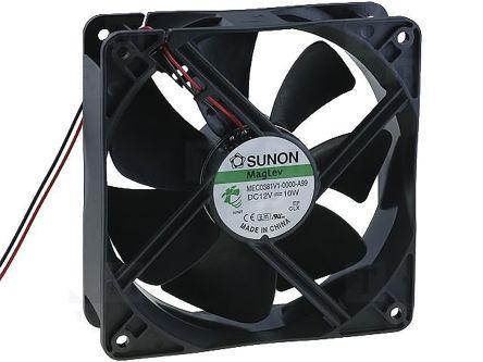 Sunon , 12 V dc, DC Axial Fan, 120 x 120 x 38mm, 234.5m³/h, 10W