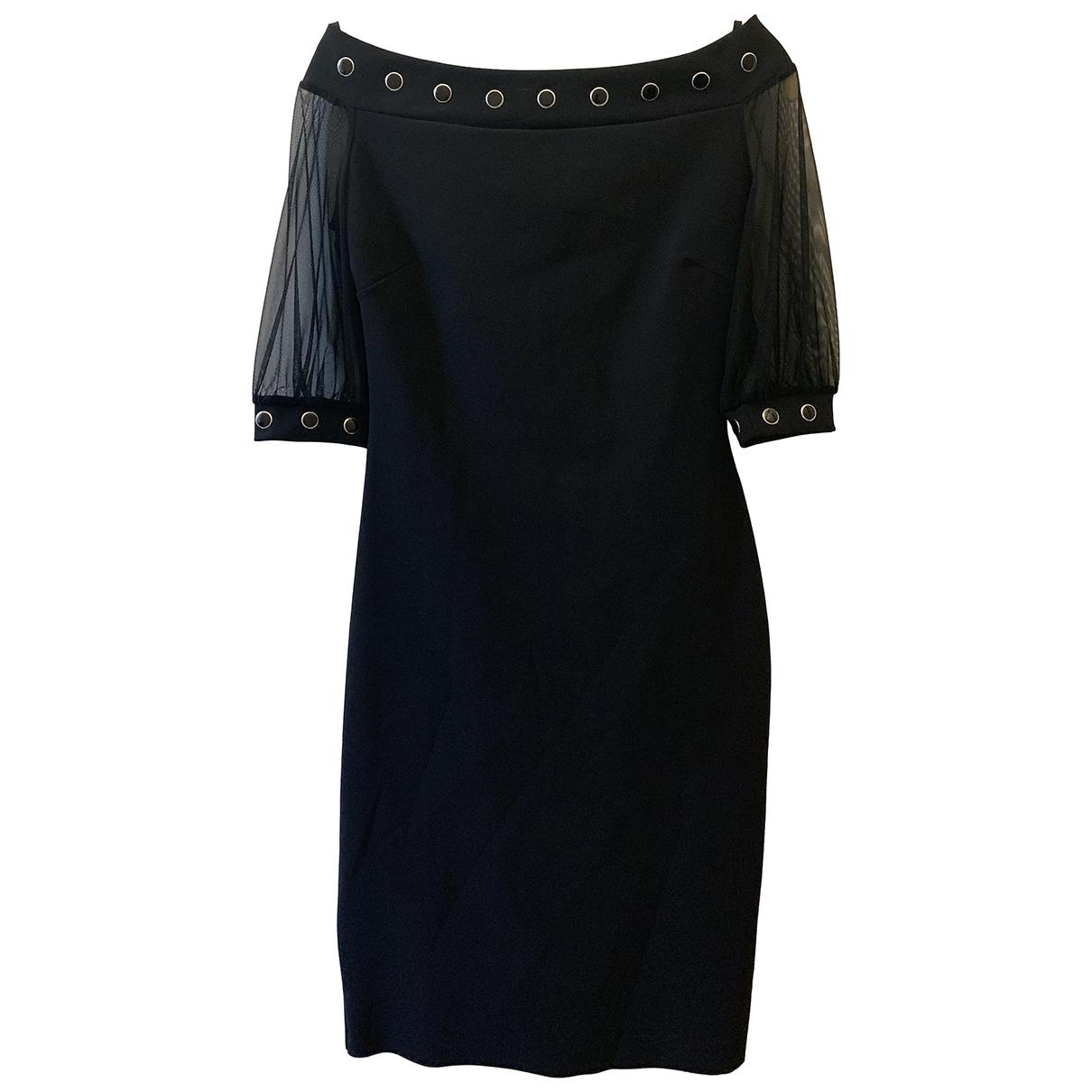 Chiara Boni - Robe   pour femme en coton - elasthane - noir
