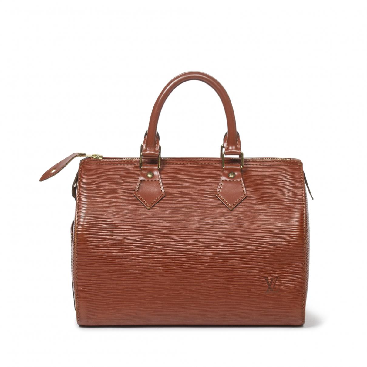 Louis Vuitton Speedy Handtasche in  Khaki Leder