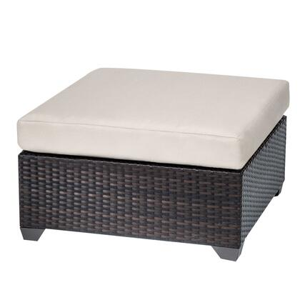 TKC010b-O-BEIGE Belle Ottoman with 2 Covers: Wheat and