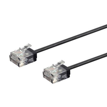 Câble de brassage Ethernet toronné Micro SlimRun 550MHz 36AWG Cat6 UTP - Monoprice® - 30pi, Noir