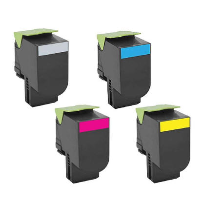 Compatible Lexmark 71B10K0 71B10C0 71B10M0 71B10Y0 Toner Cartridge Combo - Economical Box