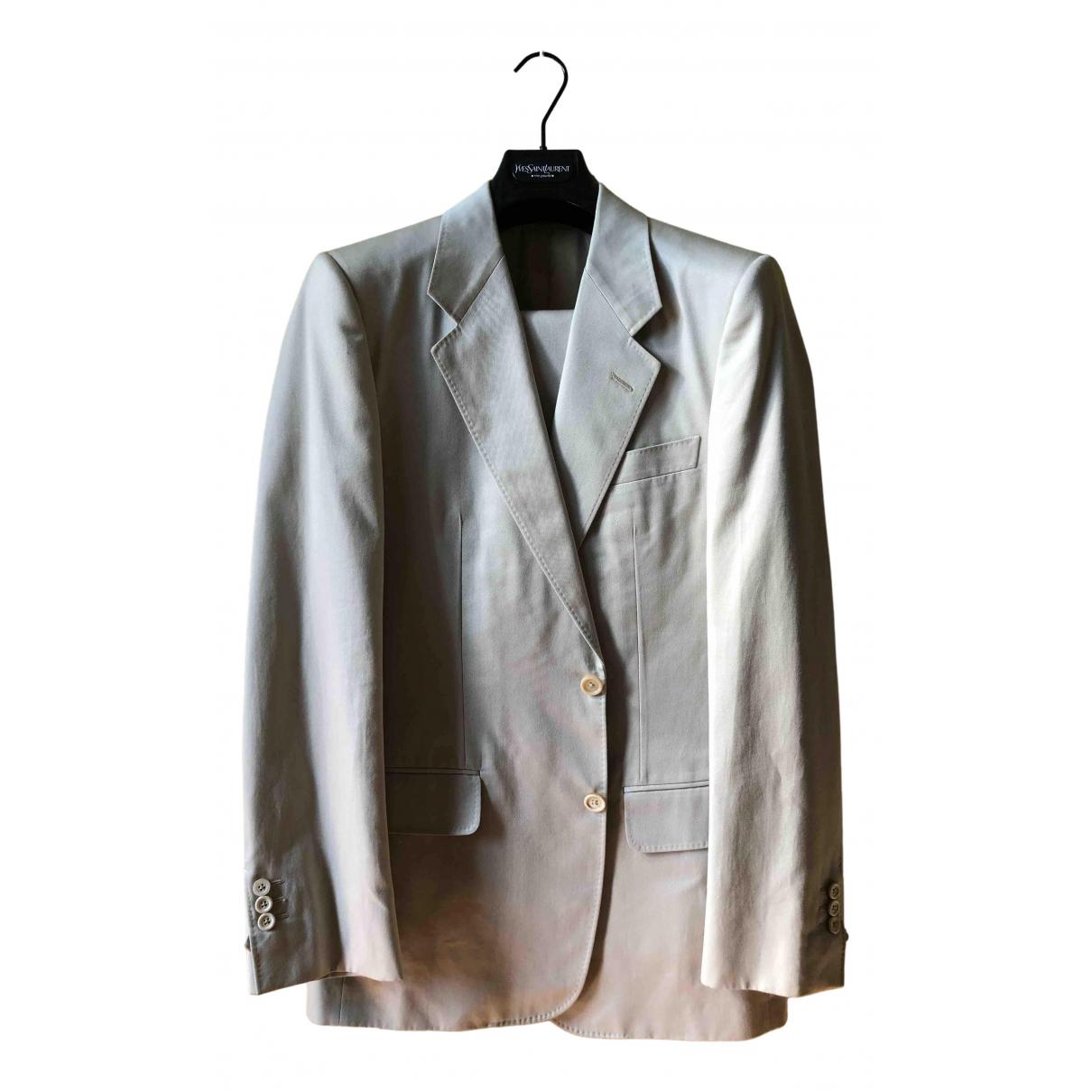 Yves Saint Laurent \N Anzuege in  Beige Baumwolle