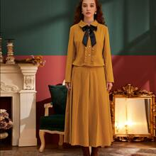 Outfit de dos piezas Tablas Liso Elegante